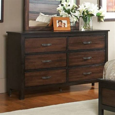 wood bedroom dressers wood dresser makes industrial atmosphere around the