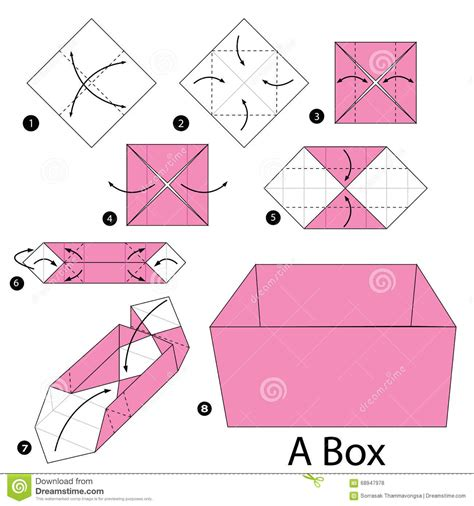 how to do an origami box step by step how to make origami a box stock