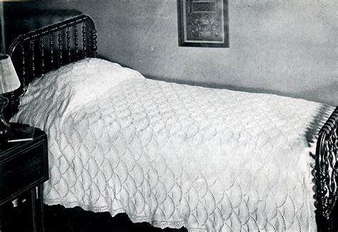 knitted bedspread patterns free counterpane knitting archives vintage crafts and more