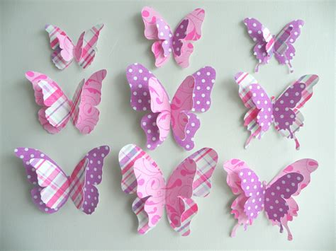 paper butterflies craft 3d butterfly wall decor quot sally quot set felt