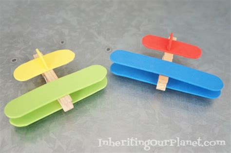 aeroplane craft for airplane clothespin craft inheriting our planet