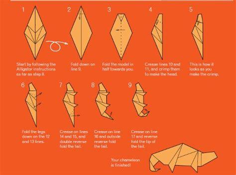 origami chameleon origami chameleon favecrafts