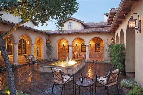 homes with courtyards italian courtyard with beautiful homes