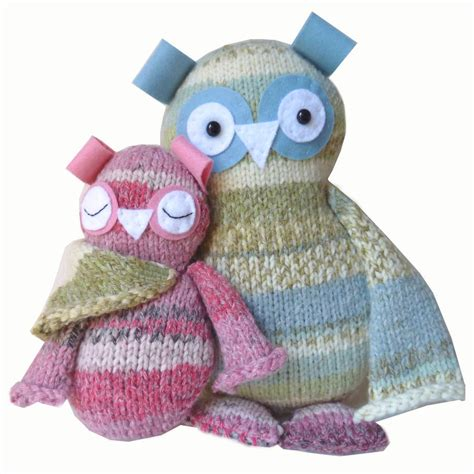 knitted kits two hoots owls knitting kit by gift knit kits
