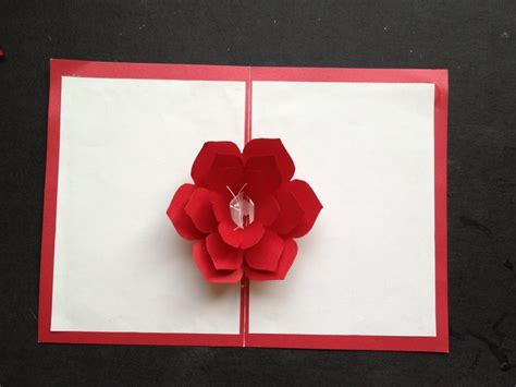 3d cards to make easy to make a 3d flower pop up paper card tutorial free