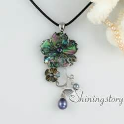 how to make abalone jewelry flower cameo necklaces rainbow pink penguin white oyster