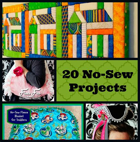 no sew craft projects 20 easy no sew projects