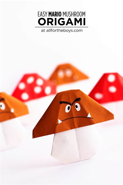 how to make origami mario easy mario origami all for the boys