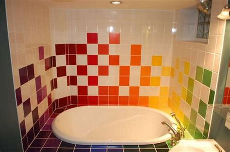 home interior and exterior design rainbow tiles paint ideas bathrooms