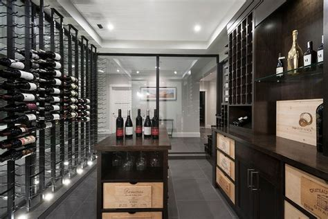 basement wine rack modern basement wine cellar with floor to ceiling wine
