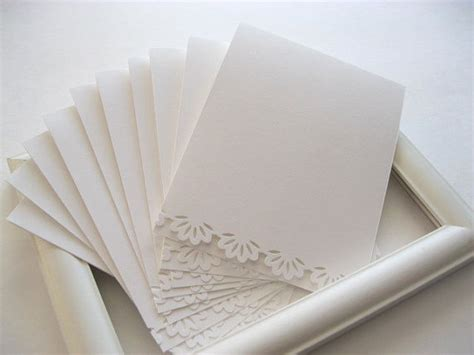 paper for cards items similar to set of 5 paper lace cards blank white