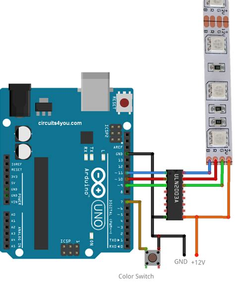 arduino led light rgb led interfacing with arduino circuits4you