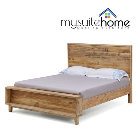 rustic pine bed frame portland recycled solid pine rustic timber king