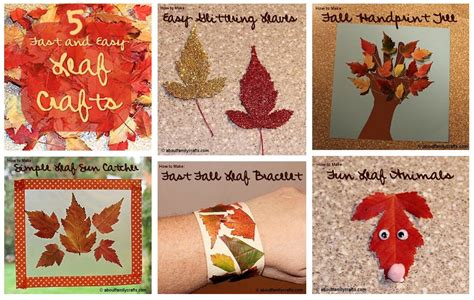 fast easy crafts 5 fast and easy leaf crafts about family crafts