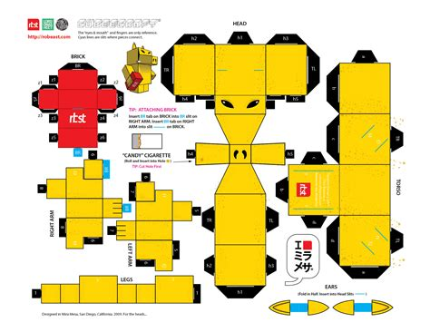 www paper craft papercraft rbst x cubeecraft quasimoto lord on a sheet