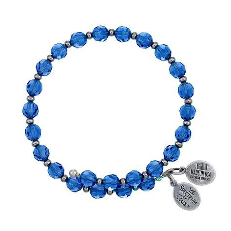 blue beaded bracelet 6mm blue with spacer bead wrap bracelet