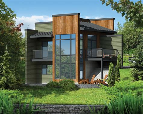 house plans for sloping lots modern getaway for a front sloping lot 80816pm architectural designs house plans