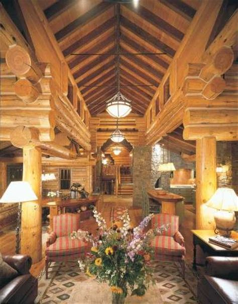 taking logs to new heights cabin decor idea today s log
