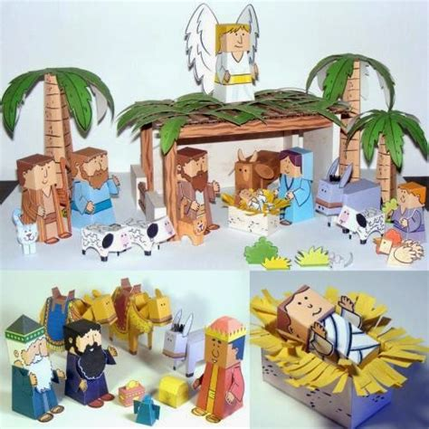 nativity craft for easy papercraft nativity