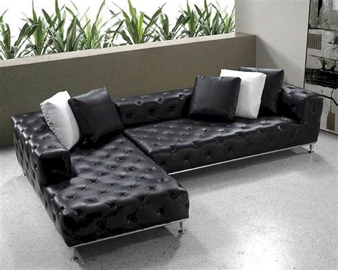 tufted leather sofa set black modern tufted leather sectional sofa set 44l0687