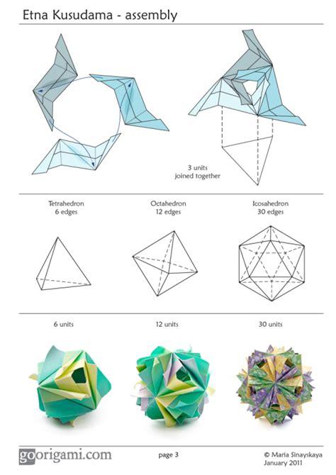 origami flower pdf etna kusudama by sinayskaya diagram go origami