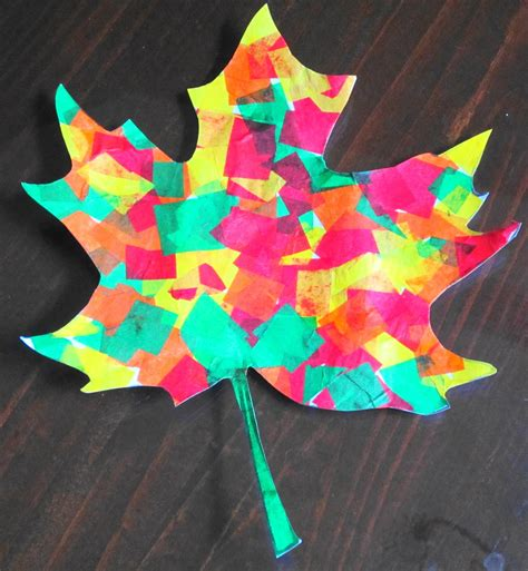 paper leaves craft teaching with tlc beautiful tissue paper fall leaves