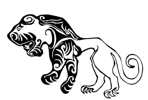 clipart scythian tiger tattoo