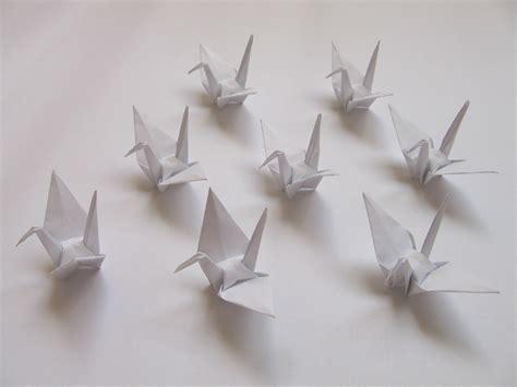 buy origami cranes 100 small white origami cranes origami