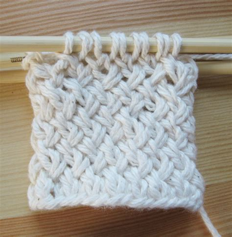 basket weave knit pattern diagonal basketweave in the how to work patterns