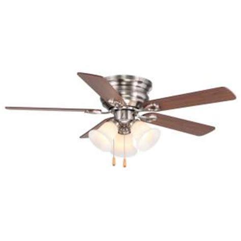ceiling fan light kit home depot clarkston 44 in brushed nickel ceiling fan with light kit