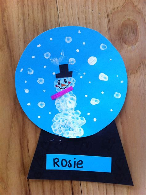 snow craft for snow globe craft mommyapolis
