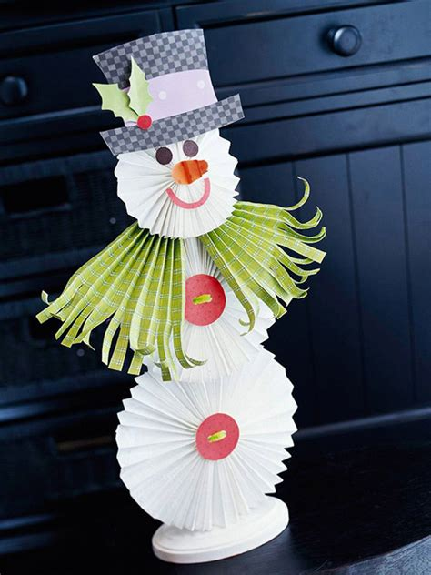 snowman paper crafts 25 easy diy snowman crafts home design and