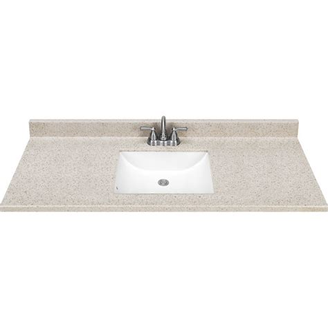 bathroom vanity tops lowes estate by rsi square bowl dune cultured marble vanity top