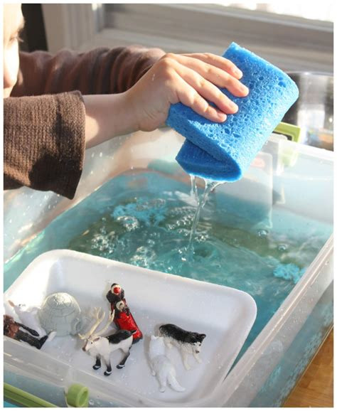 water for sensory play arctic sensory play melt science for