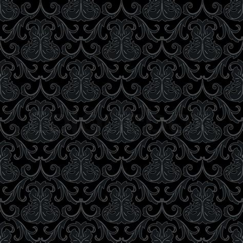 Victorian Style Home Plans seamless black wallpaper pattern stock vector colourbox