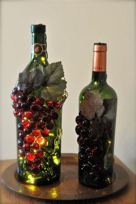 craft projects with wine bottles wine bottle crafts with lights