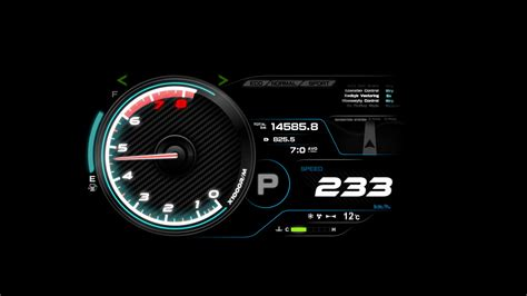 Car Meter Wallpaper by 4 K Animation Of Futuristic Car Dashboard With Speed And