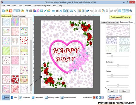 birthday card make birthday cards maker software design printable birth day