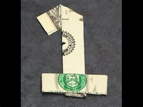 origami number fold origami dollar bill number 1