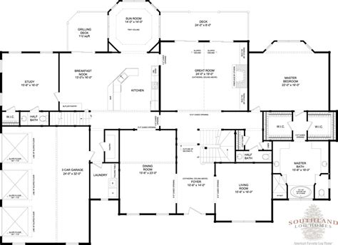 floor plans log homes rutherford plans information southland log homes