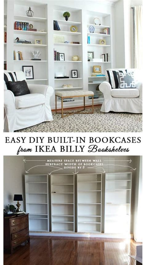 ikea built in bookshelves how to build diy built in bookcases from ikea billy