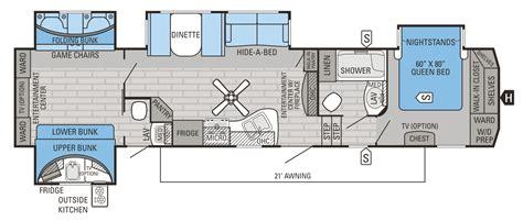 bunkhouse fifth wheel floor plans fifth wheel bunkhouse floor plans meze