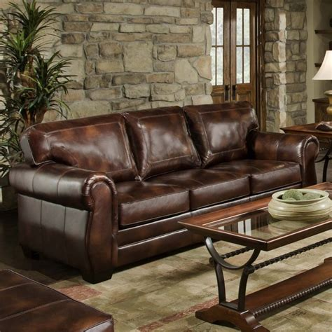 traditional leather sofas simmons encore vintage leather traditional sofa