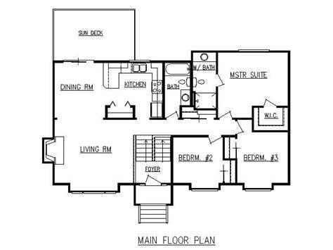 split level home floor plans design lines inc plan 1728 split level