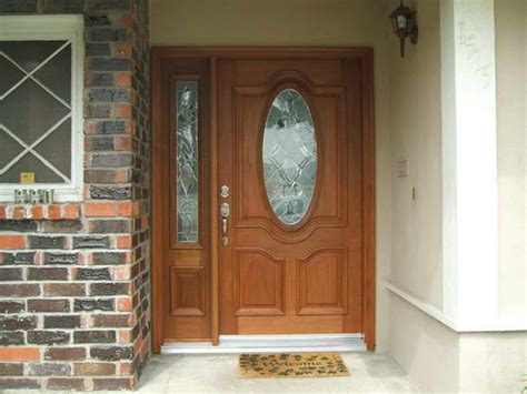 front entry doors with one sidelight wood entry doors with sidelights of oval glass front entry