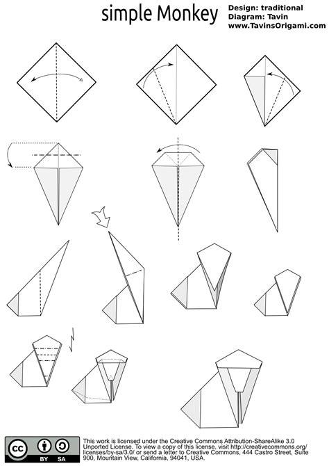 origami monkey diagram index of diagram