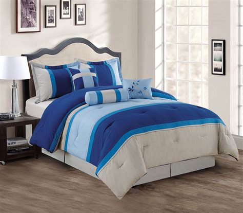 king comforter sets blue 7 navy blue gray comforter set