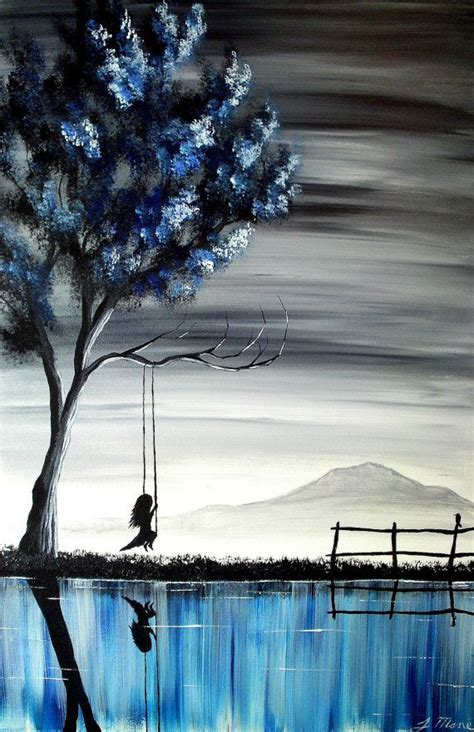 acrylic painting ideas inspiration the on the swing ii original acrylic vertical