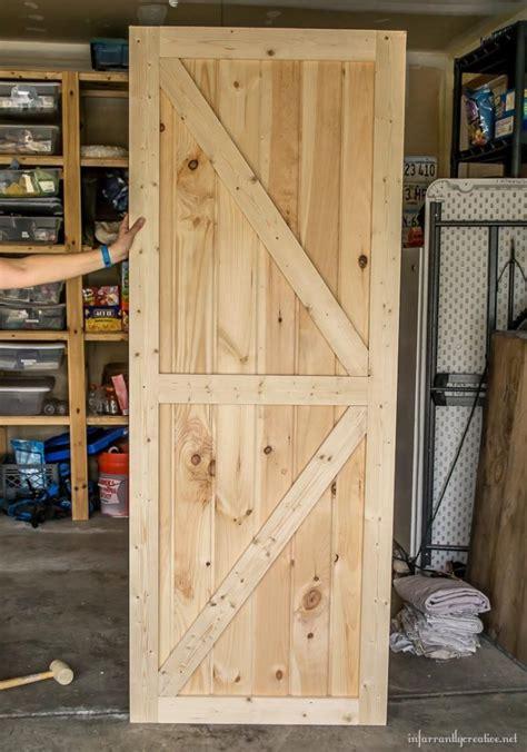 how to make a barn door for inside diy barn door plans
