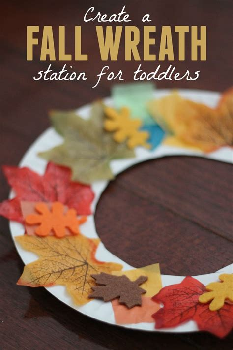 crafts for 2 year olds to make toddler approved fall wreath station for toddlers